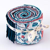 Threaders Pretty Peacocks 24-Piece Fabric Strip Roll-459464