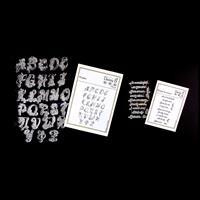 Daisy B Crafts Florabet & Sentiments Stamp Sets - 34 Stamps-461598