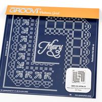 Groovi Queen Lace Duet A5 Square Plate - Mary-461838