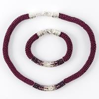 Kelanash Designs Crystal Tube Set - 4 x Bracelet & 4 x Necklace R-466745