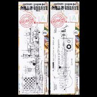 AALL & Create 2 x Stamp Sets - Chess Art and Vocalist - 6 Stamps-467338