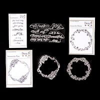 Nina Crafts Amazacircles & Sentiments Stamp Sets - 8 Stamps-467595