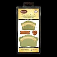 JustRite® Die Set - Vintage Labels & Banner - 6 Dies Total-469156