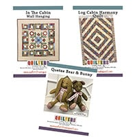Quilter's Trading Post 3 Pattern Set- Log Cabin Quilt, In the Cab-469505