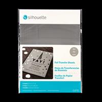 Silhouette Foil Transfer Sheets - Silver - 6 Sheets-470986