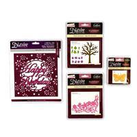 Die'sire 4 x Die Sets - Floral Collection Sets & Happy Birthday- -471365