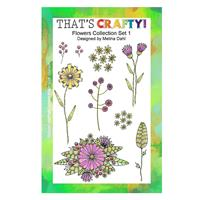 That's Crafty! A5 Flower Collection Stamp Set-471661