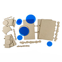 Tando Creative 9 x Greyboard Binder Inserts Kit & Embellishments-474955