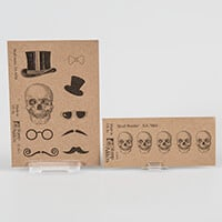 Stamp Addicts Skull-Tastic and Skull Border Unmounted Rubber Stam-476223
