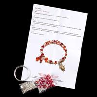 Dawn Bibby Crafts Jewellery Memory Wire Bracelet Kit – Makes up t-477469