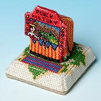 Nutmeg Minature Building 'Seaside Village' Cross Stitch Kit - Pun-479624