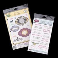 JustRite® 2 x Stamp Sets - Christmas Blessings & Labels Twenty - -480465
