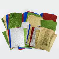 Craft Buddy 1 x Pack of A4 Embossed Foiled Card In Assorted Colou-481952