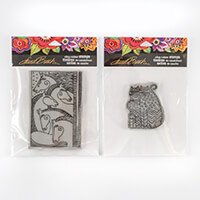 Stampendous 2 x Laurel Burch Stamp Sets - Zigzag Cats and Horse F-482275