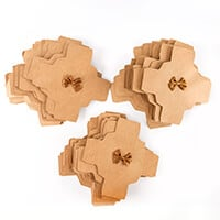 Pack of 36 Kraft Favour Boxes with Bows-482322
