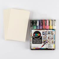 Posca 8 x PC-3M Assorted Starter Pack with Free 10 x Postcard Mou-483745