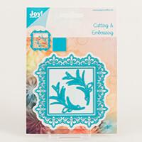 Joy Crafts Square Fleur De Lys & Flourish Frame Die Set - 4 Dies-484969