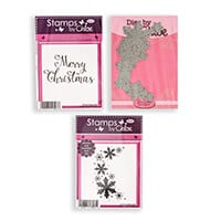 Stamps by Chloe Snowflake Arch and Sentiment Stamp & Die Collecti-485189