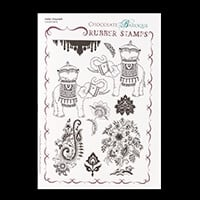 Chocolate Baroque Indian Elephant A5 Stamp Sheet-487235