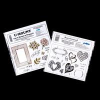 Creative Expressions 2 x A5 Stamp Plates - Hearts Entwined & Fram-487346