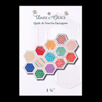 "Daisy & Grace 'Quilt as you go' Hexagon Template - 1 1/4""-489467"