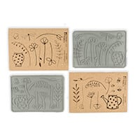 Stamp Addicts 2 x Cling Mounted Rubber Stamp Sets -  Garden Delig-490072