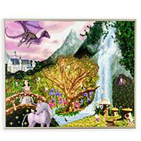 Pixelhobby UK Enchanted Forest Kit - 16 x Baseplates, 293 Pixelsq-490302