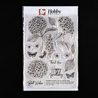 Hobby Art Janie's Collection Hydrangea A5 Clear Stamp Set - 18 St-495198