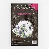 Pink Ink Designs A5 Clear Dragon 8 Stamp Set-496135