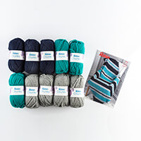 Thomas B Ramsden Chunky Crochet Diagonal Striped Throw Kit-498860