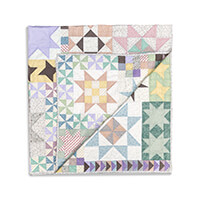 Totally Patched Stars in Harmony Large Quilt Kit   78 x78 -499091