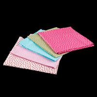 Perfect Occasions Set of 5 100  Cotton Fabrics Bows and Spots Col-499202
