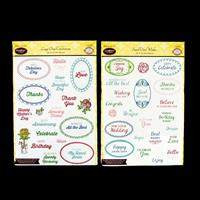 JustRite® 2 x Stamp Sets - Oval Collection Small & Large - 54 Sta-499944