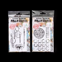 AALL & Create Stamp Sets -  Patches and Circular Marks - 5 Stamps-500066