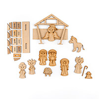 Karacter Krafts Set of 11 Whimsical Nativity Characters with Stan-500875