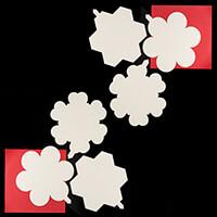 Luv Crafts 18 x Locket Templates - Hearts, Circles & Hexagons-501685