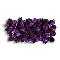 12 x Purple Clip on Poinsettia-502496