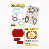 JustRite® 2 x Stamp Sets - Merry Wishes & Oval Christmas - 18 Sta-502819
