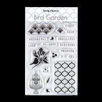 StickerKitten Bird Garden Clear A6 Stamp Set - 20 Stamps in Total-504319