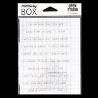 Memory Box Oceanside Typewriter Sentiments Clear Stamp Set - 16 S-505045