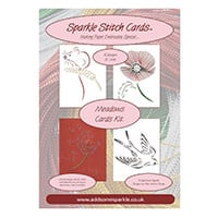 Add Some Sparkle Meadows Stitch Card Kit - Mouse, Swallow, Poppy -505266