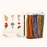 Thea Gouverneur Set of 6 Flowers Cross Stitch Kit on Aida - 17 x -506200