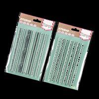 Luv Crafts 2 x Fancy Border Stamp Sets - 14 Stamps-506279