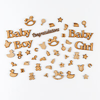 Daisy's Baby Theme MDF Grab Bag - 46 Pieces in Total-507149