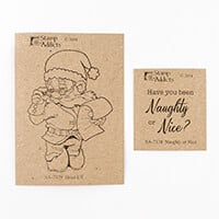 Stamp Addicts Head Elf & Naughty or Nice Cling Mounted Rubber Sta-510034
