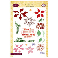 JustRite Clear Stamp Set - Multi Step Poinsettia - 20 Stamps Tota-510503