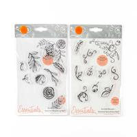 Tonic Essentials 2 x Bunched Bouquet Stamp Sets - Autumnal Sprigs-515692