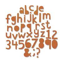 Sizzix® Thinlits™ Set of 102 Dies - Alphanumeric Cutout Lower Cas-516417