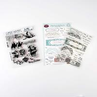 Tim Holtz & JustRite® Stamp Sets - Mini Holiday & Happy Occasion -516515