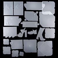 Set of 20 Assorted Envelopes & Card-Making Templates - Hearts, Sh-516809